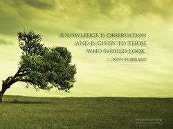 KNOWLEDGE IS OBSERVATION 