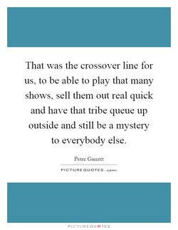 That was the crossover line for 