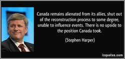 Canada remains alienated from its allies, shut out 