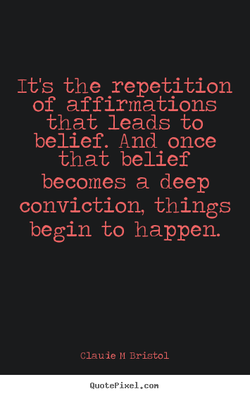 It's the repetition 