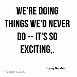 WE'RE DOING 