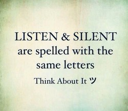 LISTEN & SILENT 