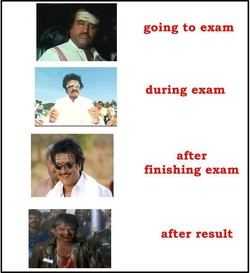 going to exam 