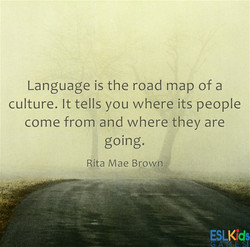 Language is the road map of a 
