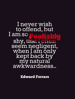 I never wish 