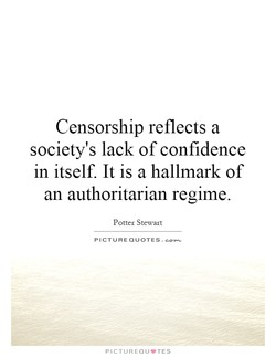 Censorship reflects a 