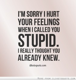 SORRY I HURT 