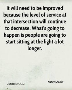 It will need to be improved 