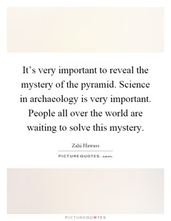 It's very important to reveal the 
