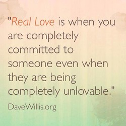 'Real Love is when you 