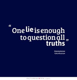One lie is enough 