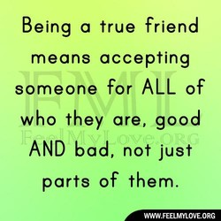 Being a true friend 