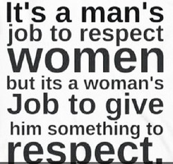 It's a man's 