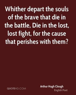 Whither depart the souls 