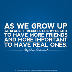 AS WE GROW UP 