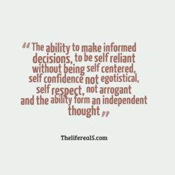 u The ability to make informed 
