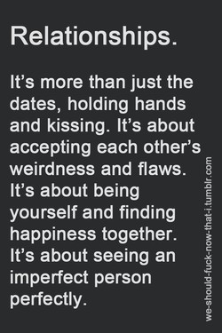 Relationships. 