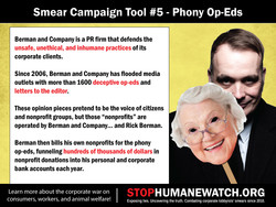 Smear Campaign Tool #5 - Phony Op-Eds 