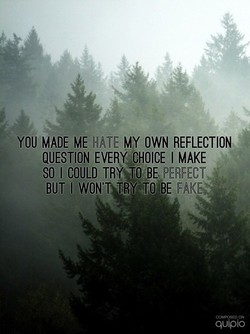 YOU MADE ME MY OWN REFLECTION 