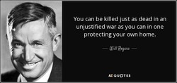 You can be killed just as dead in an 
