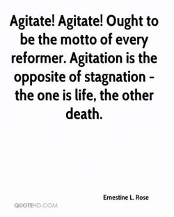 Agitate! Agitate! Ought to 