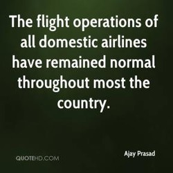 The flight operations of 