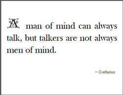 man of mind can always 