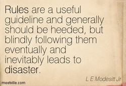 Rules are a useful 