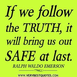 If we follow 