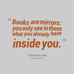 Books aremirrors: 