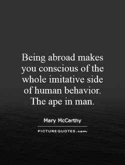 Being abroad makes 