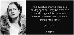 An adventure may be worn as a 