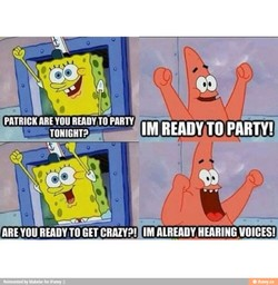 PATRICK ARE you READVTO PARTY 