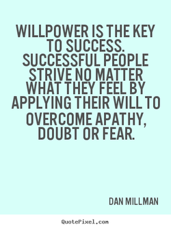 WILLPOWER IS THE KEY 