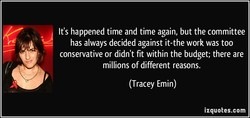 It's happened time and time again, but the committee 