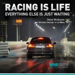 RACING IS LIFE EVERYTHING ELSE IS JUST WAITING