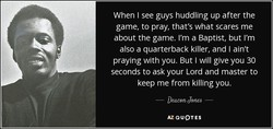 When I see guys huddling up after the 