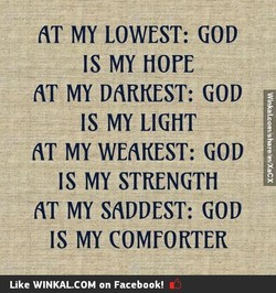 AT MY LOWEST: GOD 