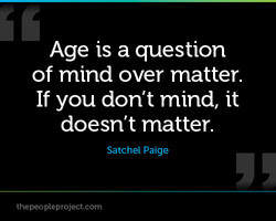 Age is a question 