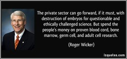 The private sector can go forward, if it must, with 