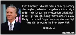Rush Limbaugh, who has made a career preaching 