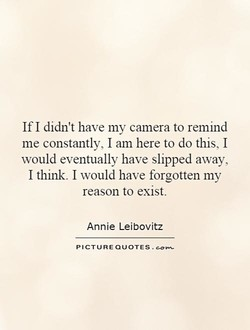 If I didn't have my camera to remind 