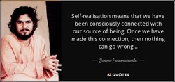Self-realisation means that we have 