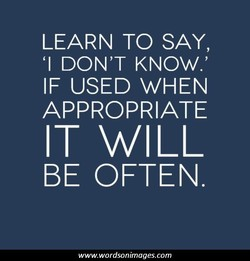 LEARN TO SAY, 