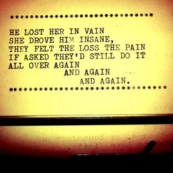 HE LOST HER IN VAIN 
