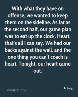 With what they have on 