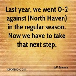 Last year, we went 0-2 
