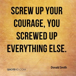 SCREW UP YOUR 