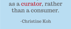 as a curator, rather 