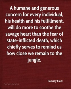A humane and generous 